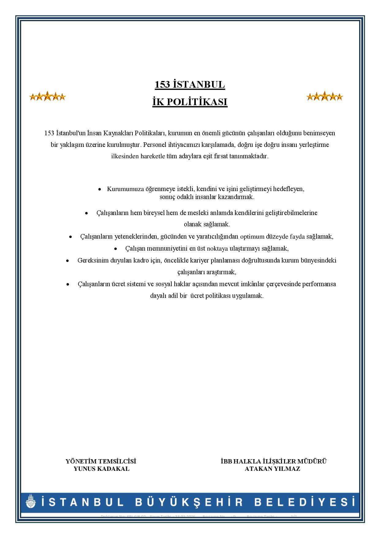 KPL.GN.002. İK Politikası 29.04.16 Page 001